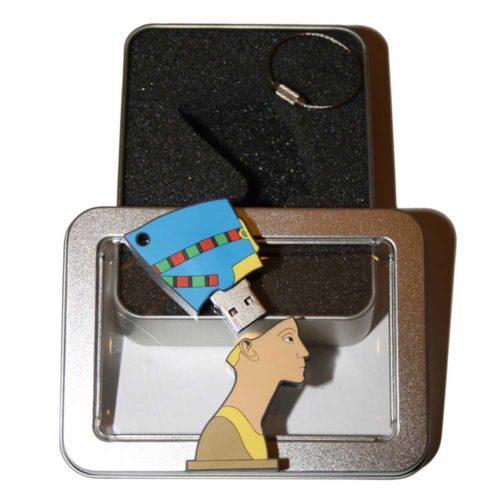 Berlin-Nofretete-Deutschland-Souvenir-USB-Datentraeger-Schluesselanhaenger-Bildergalerien-cultourstix-lexapix
