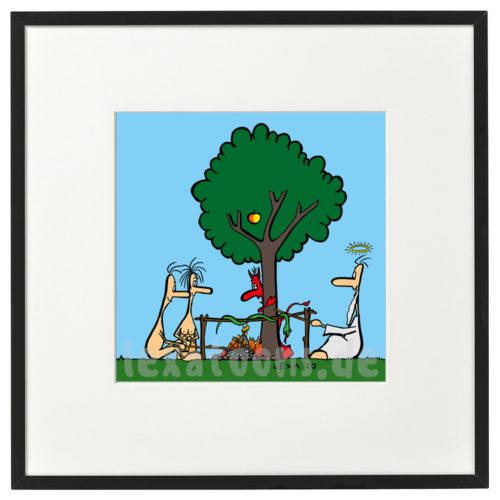 lexatoons-gerahmte-cartoons-gegrillte-schlange