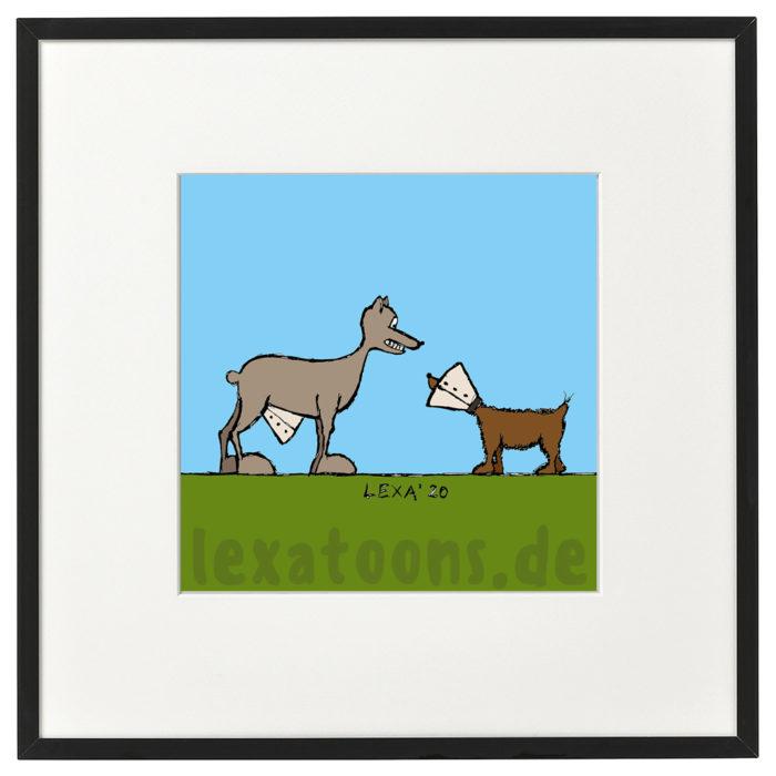 lexatoons-gerahmte-cartoons-hunde-halskrause