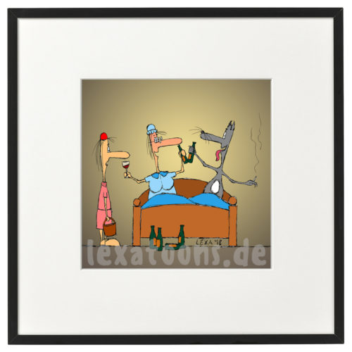 lexatoons-gerahmte-cartoons-rotkaeppchen