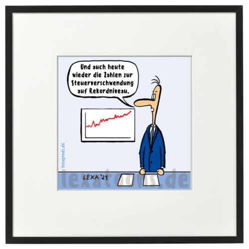 lexatoons-gerahmte-cartoons-steuerverschwendung